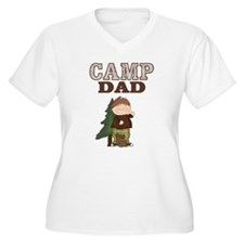 Camp Dad Women Plus Size Shirt (Boy with Squirrel)