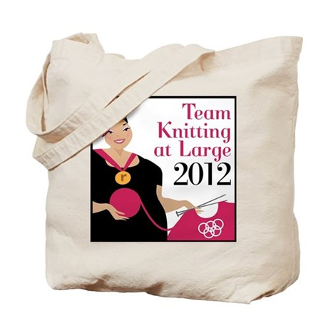 Team Knitting at Large 2012 - Ravelympics Tote Bag