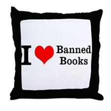 Love Banned Books Throw Pillow