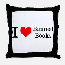 Love Banned Books Throw Pillow