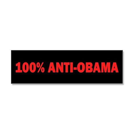 100% Anti-Obama Car Magnet 10 x 3