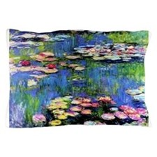 MONET WATERLILLIES Pillow Case