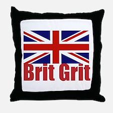 Brit Grit Throw Pillow