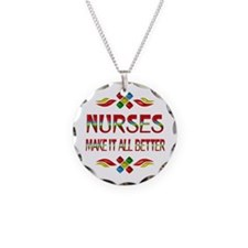 Nurses Necklace Circle Charm