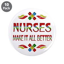 """Nurses 3.5"""" Button (10 pack)"""