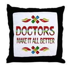 Doctors Throw Pillow