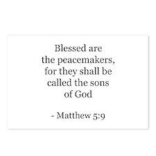 Matthew 5:9 Postcards (Package of 8)
