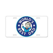 Fathers Day Aluminum License Plate