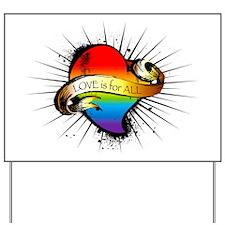 GAY Heart Yard Sign