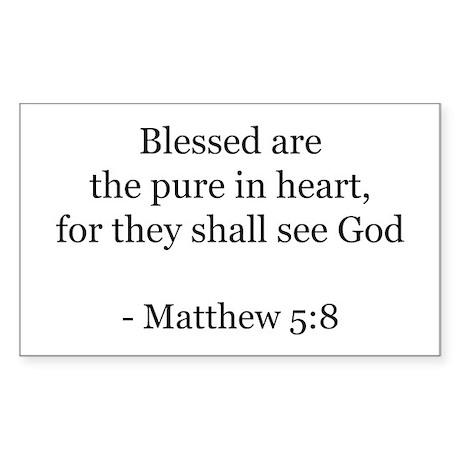 Matthew 5:8 Rectangle Sticker