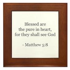 Matthew 5:8 Framed Tile