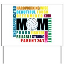 What is a Volleyball Mom.png Yard Sign