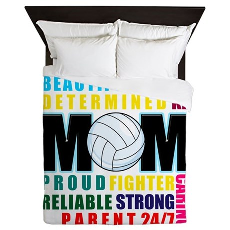 What is a Volleyball Mom.png Queen Duvet