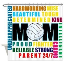 What is a Volleyball Mom.png Shower Curtain