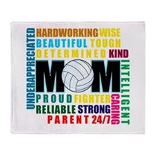 What is a Volleyball Mom.png Throw Blanket