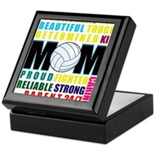 What is a Volleyball Mom.png Keepsake Box
