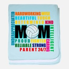 What is a Volleyball Mom.png baby blanket
