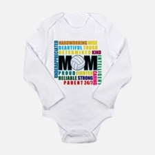 What is a Volleyball Mom.png Long Sleeve Infant Bo