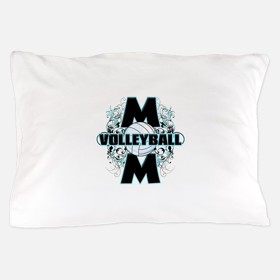 Volleyball Mom (cross).png Pillow Case