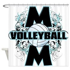 Volleyball Mom (cross).png Shower Curtain