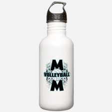 Volleyball Mom (cross).png Water Bottle