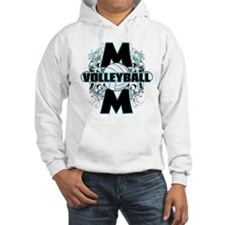 Volleyball Mom (cross).png Hoodie