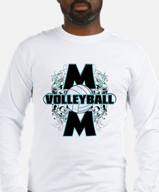 Volleyball Mom (cross).png Long Sleeve T-Shirt