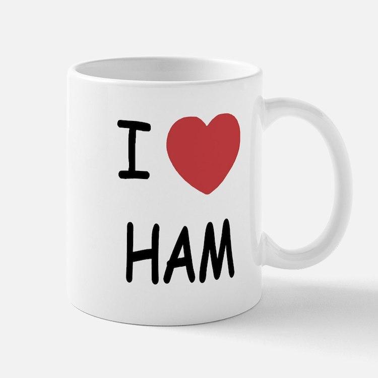I heart ham Mug