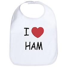 I heart ham Bib