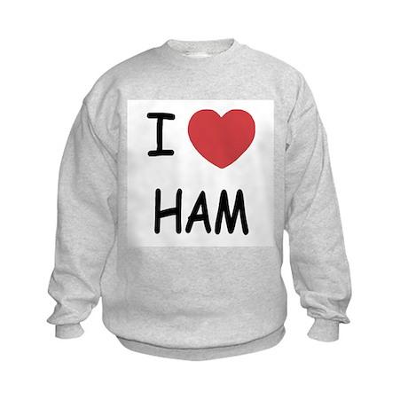 I heart ham Kids Sweatshirt