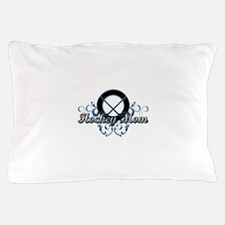 Hockey Mom (puck).png Pillow Case