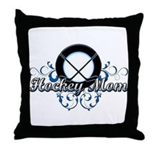 Hockey Mom (puck).png Throw Pillow