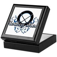 Hockey Mom (puck).png Keepsake Box