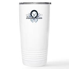 Hockey Mom (puck).png Travel Coffee Mug