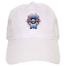 Hockey Mom (cross).png Baseball Cap