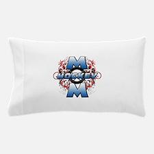 Hockey Mom (cross).png Pillow Case