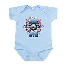 Hockey Mom (cross).png Infant Bodysuit