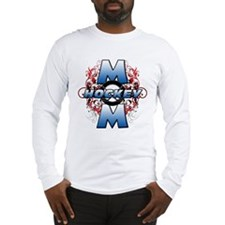 Hockey Mom (cross).png Long Sleeve T-Shirt
