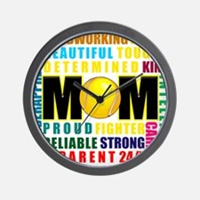 What is a Tennis Mom.png Wall Clock