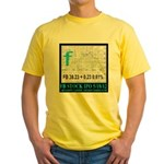 FB Stock IPO Happy Camper Poster Yellow T-Shirt