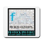 FB Stock IPO Happy Camper Poster Mousepad