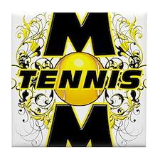 Tennis Mom (cross).png Tile Coaster