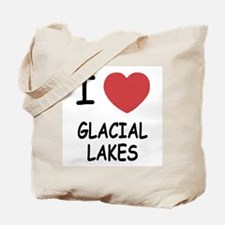 I heart glacial lakes Tote Bag