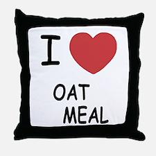 I heart oatmeal Throw Pillow