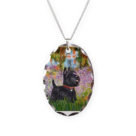 Garden (Monet) - Scotty Necklace Oval Charm