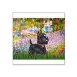 Garden (Monet) - Scotty Square Sticker 3