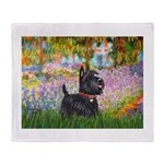 Garden (Monet) - Scotty Throw Blanket