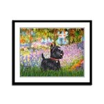 Garden (Monet) - Scotty Framed Panel Print