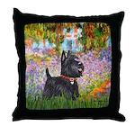 Garden (Monet) - Scotty Throw Pillow