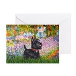 Garden (Monet) - Scotty Greeting Card